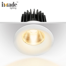 External driver round cob 3000k 2750lm 25w dimmable led spot light with three-phase rail