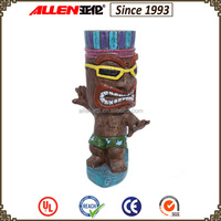 Multicolor printed resin decoration products wholesale tiki statues