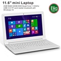 China Cheap 11.6 inch ultrabook Intel Quad Core 2G RAM 32G ROM mini laptops