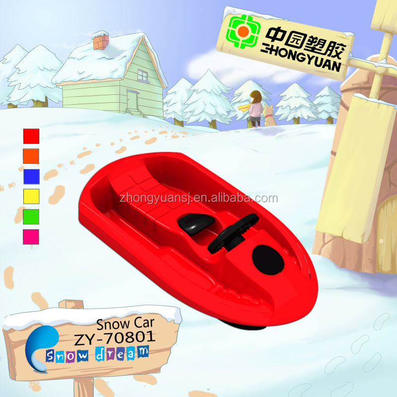 New Kids plastic fun red snow scooter