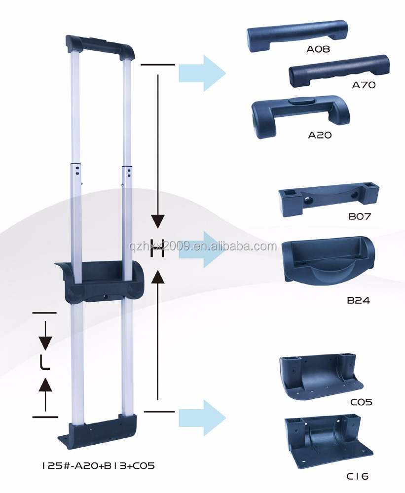 Good Quality Suitcase Parts Detachable Bag Trolley Handles