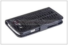 Crocodile genuine leather wallet Stand case for Samsung galaxy s3 i9300