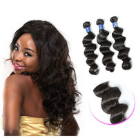 6A Free Shipping Natural Color 14 16 18 Inch Raw Unprocessed Virgin Peruvian Hair