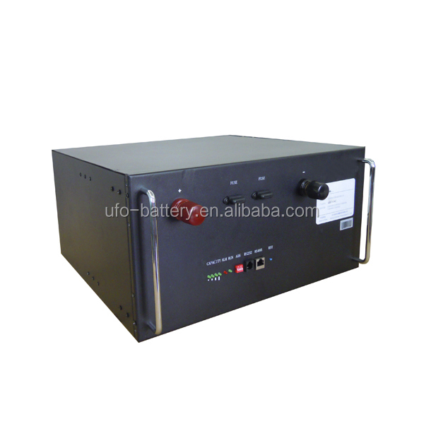 Telecom storage battery pack 24V 100Ah Lifepo4 battery with communication port RS232/RS485 CANBUS