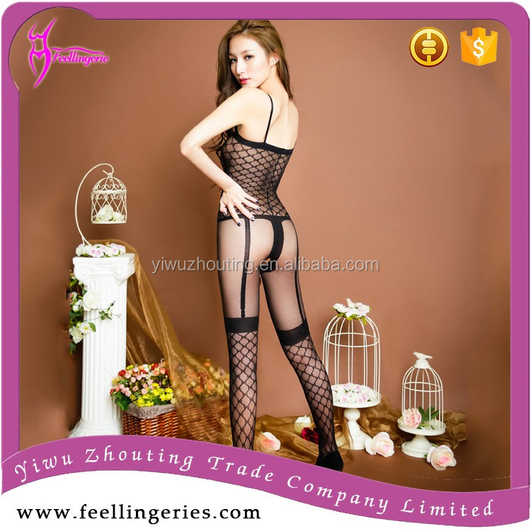 2017 newest black / white mature women nude hot sexy girl bodystocking