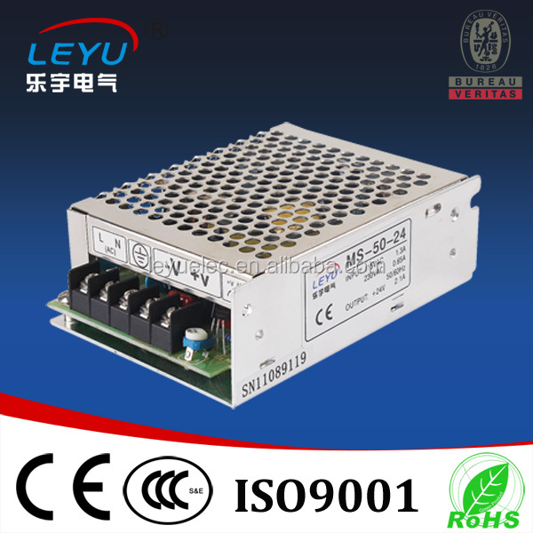 CE ROHS approved 12V4A mini size single output switching power supply MS- 50w for led lighting
