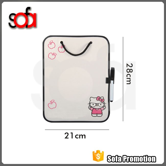 Children small magnetic white pad dry erase board /pad