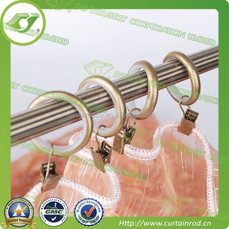 DR0011 Hot sale multiuse plastic curtain eyelets rings / metal curtain rings wiht clip / adjustable curtain rods accessories