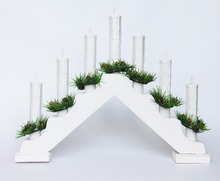 wood candle stand christmas candle bridge light