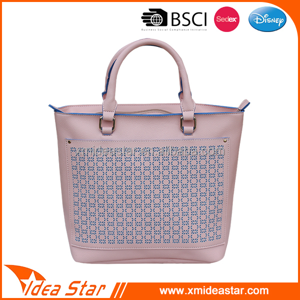 Manufacture hot sale new arrival fashion PU leather lady handbag
