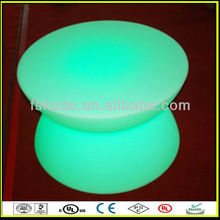 LED glowing plastic led long narrow bar tables
