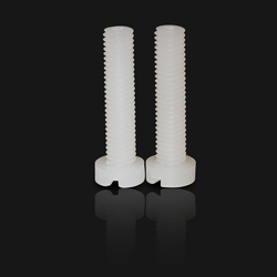 Chinese factory supply plastic screw Slotted cheese head PVDF screws