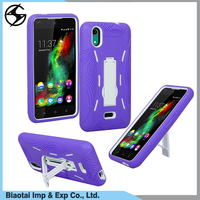 Heavy duty Rugged Hybrid Tpu Pc Case for Wiko smartphone with kickstand,Back Cover case for Wiko rainbow lite 4g smartphone case