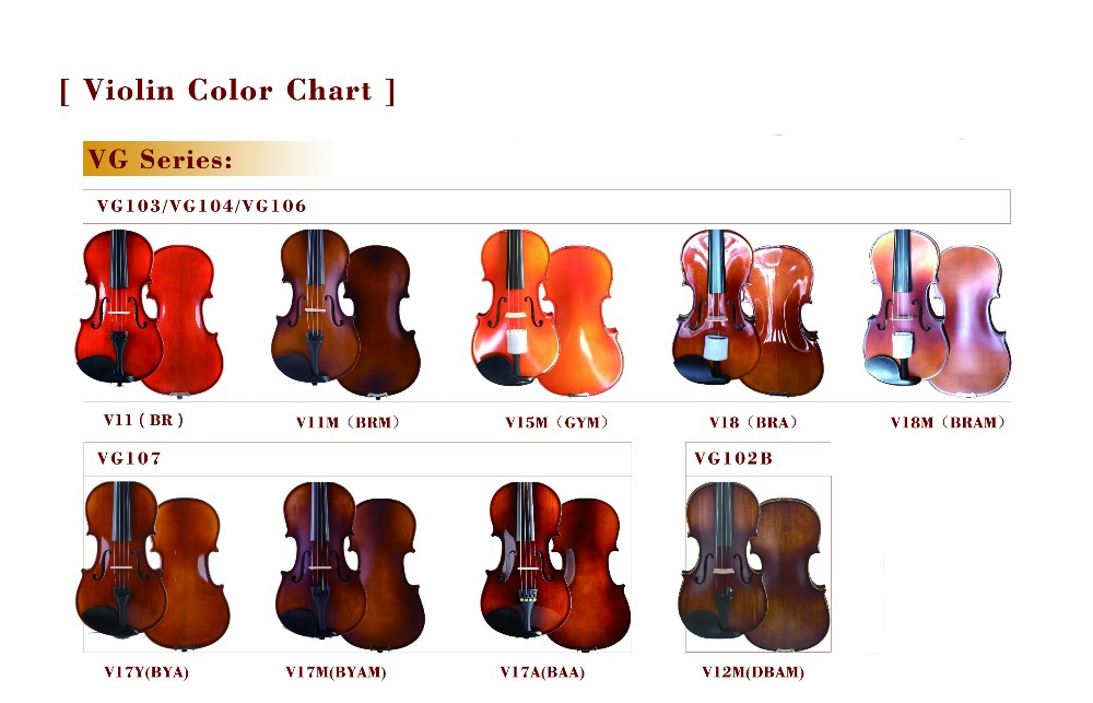 Manufacture Student Universal Violin With Free Violin Case Bow