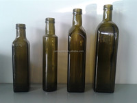 green marasca olive oil glass bottle