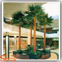 Alibaba plastic and metal material decorative hotel foxtail palm tree artificial palm tree for sale