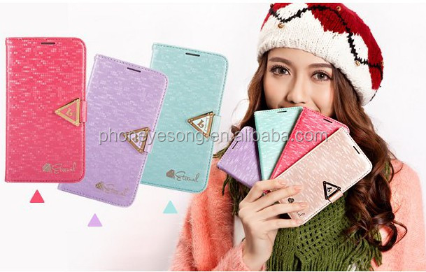 Mobile phone cover for samsung Note 3 with leather flip design for samsung galaxy note 3 cover case