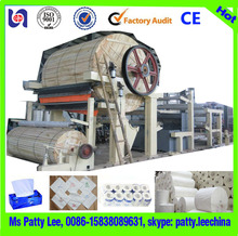 Low price handmade paper toilet tissue paper machine plant and napkin paper folding machine
