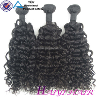 One Donor Virgin Hair Weft Large Stock cheap long curly hair weave