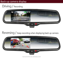 "1080 P 4.3 ""schermo TFT-LCD retrovisore Auto specchio DVR con GPS tracker back up Camera"