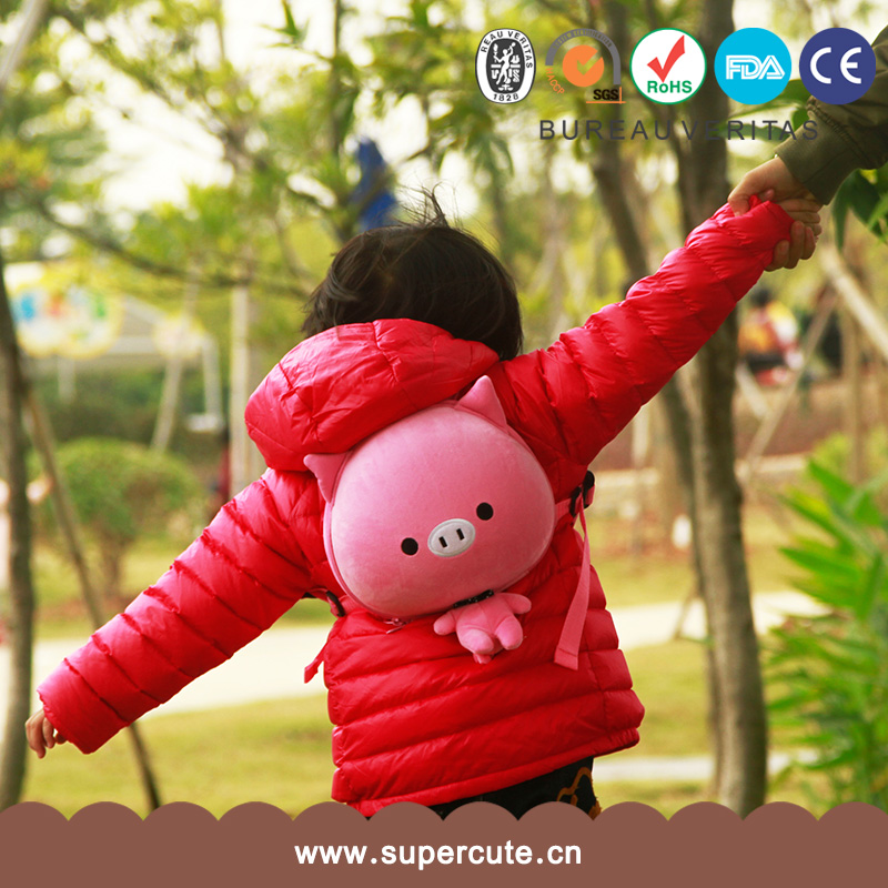 Hot selling customized brand pink pig design kid's favorite eva backpack