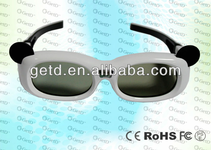 Kids Design LCD lens IR Sync ABS plastic,Micro USB connector,3D cinema use glasses--GT600