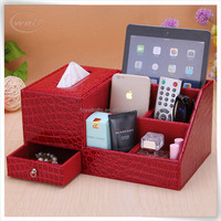 high end pu leather cardboard leather makeup display case