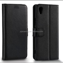 Lychee skin wallet flip leather case for Sony Xperia XA1