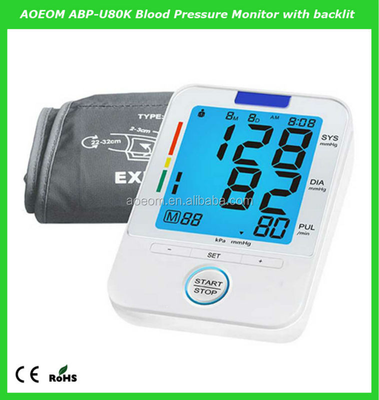 2014 new brand medical equipment LCD backlight blood pressure monitor talking bp apparatus