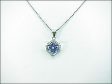 925 Sterling Silver Crystal Pendant & Earring Jewelry Set