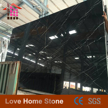 60x60 Polished floor tiles black marble with white veins