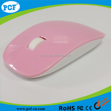 Pink girl's elegant wireless mouse ,2.4ghz usb wireless optical computer mouse for women