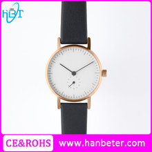 Best selling men's watch water resistant quartz watches 3 bar with handmade leather straps