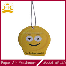 cute smile design paper air freshener