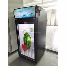 Customized size transparent LCD door fridge for promotion