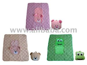 PLUSH CUSHION COVER BABY BLANKET