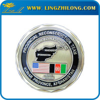 Promotional custom metal engrave gold coin