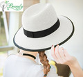 2017 new fashion summer daily wheat-straw panama sun straw hat