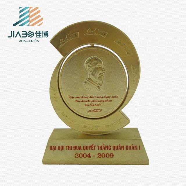 Luxury golden metal award cup sports logos on