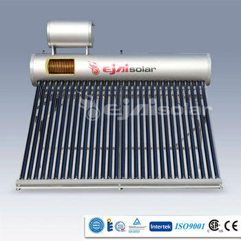 Pre-heated Copper Coil Solar Water Heater with Three Target Vacuum Tube