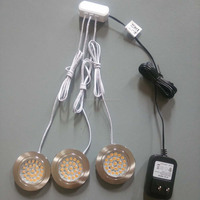 100V-240V Round 65mm Clear under cabinet led lighting