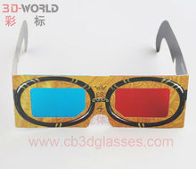 Hot selling global universal cartoon paper 3d glasses