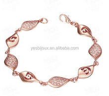 ladis new models gold plated zircon bracelet