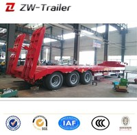 Semi trailer type ISO BV SOS CCC certification and high tensile steel material 3 axles 50 tons lowbed semi trailer on sale