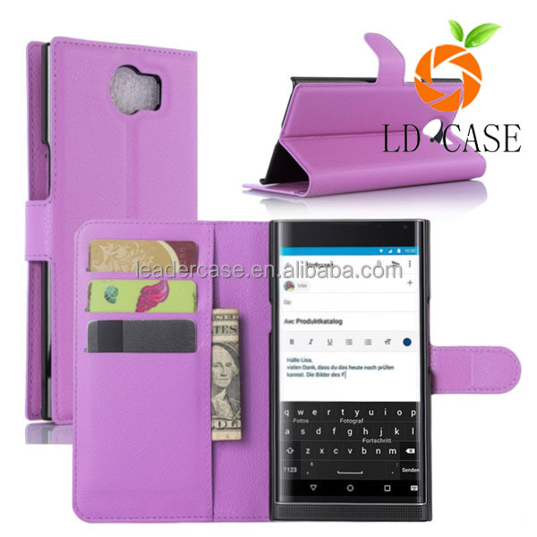 Factory cheap price Fashion PU Leather Wallet Stand Card Slots Phone Case For Blackberry Q10