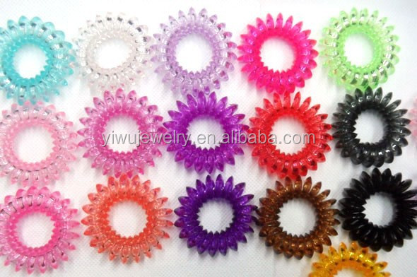 H628-028 Random Color Delivery Transparent Elastic <strong>Hair</strong> Band For Girl Rope Jewelry <strong>Accessories</strong> Springs <strong>Hair</strong> Scrunchy