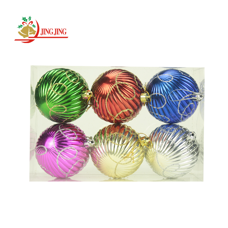 Manufacturer Sale Christmas Tree Hanging Decoration, Hand Painted Colorful Shatterproof Plastic Christmas Ball