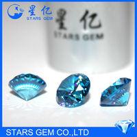 silver ring use aquamarine color 1 carat cubic zirconia cubic zirconia wholesale