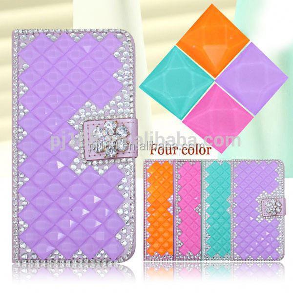 For Samsung Galaxy Ace Plus S7500 Diamond Case Bling Leather Flip Case Cover For Samsung Galaxy Ace Plus S7500