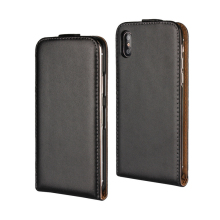 Real Genuine Flip Leather Phone Case For Iphone X 8 7 6 6s plus 5 5S SE 5C PC Back Cover